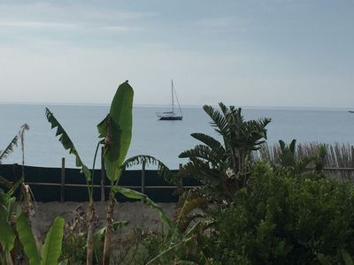 Photo for Country House 30 steps from the sea facing the Aeolian Islands