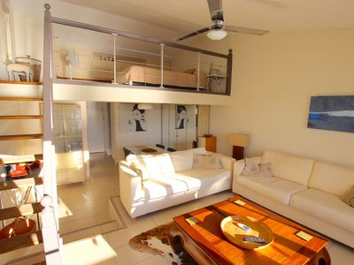 Photo for Renovated apartment with a mezzanine close to the beach