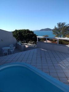 Photo for Penthouse with Fantastic Sea View, Pool and Barbecue in Large Terrace