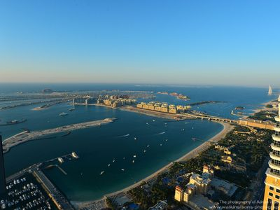 Palm Jumeirah & Dubai World View from MB Balcony