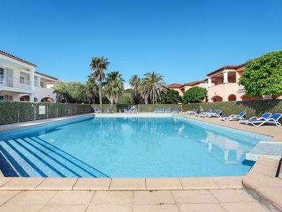 Photo for Cosy apartment for 4 guests with pool, A/C, WIFI, TV, balcony, pets allowed and parking