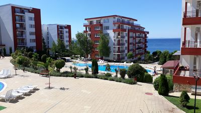 Photo for Apt Nr. St.Vlas with sea views, two bed, two bath in Grand Resort, Marina View.