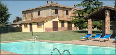 Photo for Big and Old stone farmhouse with private pool, beautiful landscape!