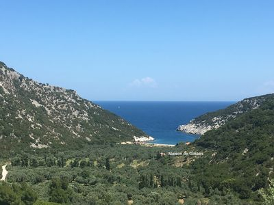 Photo for Traditional Greek house with direct access to a lovely beach at 250 m