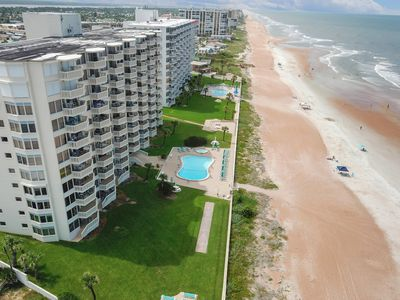 Photo for NEW LISTING! Beachfront condo with shared pool and stunning ocean views!