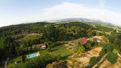 Photo for One bedroom apartment of 60sqm in a splendid Tuscan farmhouse with swimming pool and exclusive gazebo