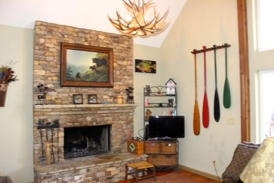 Stone Fireplace in Great Room on Main Level