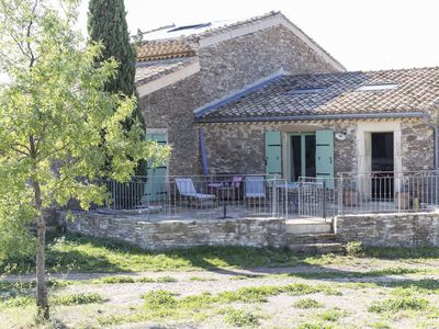 Photo for Charming cottage on the heights of La Livinière