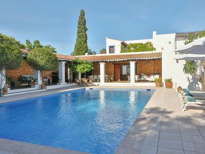 Photo for Fantastic Villa with Views to the Port of Ibiza, Pool, Wi-Fi and Airconditioning