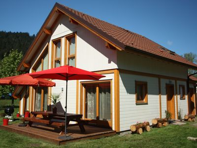 Photo for Chalet 'Le Maïdo', Gérardmer, 100m from the lake, 3 *, comfortable, quiet with land