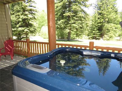 Photo for Private Hot Tub, Large Decks on Blue River,Rec Path. 1 Car Garage, Mountain Views, Gas Fireplace