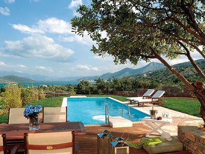 Photo for Holiday resort villa with sea views and pool + complimentary groceries