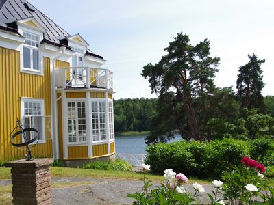 Photo for EXLUSIVE WATERFRONT VILLA ONLY 40 MIN FROM STOCKHOLM