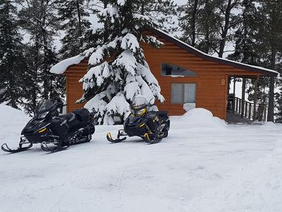 Can snowmobile right to your doorstep.