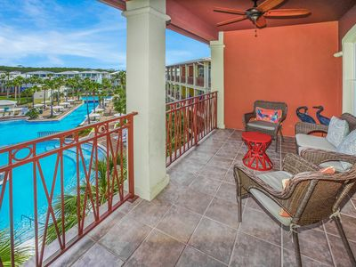 Photo for AWESOME BALCONY VIEWS! OPEN 9/28-10/5! OVERLOOK THE LAGOON POOL!