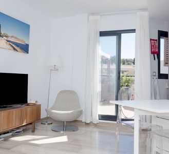 Photo for Penthouse Moraira center (40 m2 roof terrace, swimming pool, wifi, AC) beach nearby
