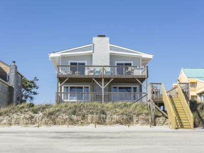 Photo for Belle Esprit: 4 Bed/4.5 Bath Oceanfront Home, Inverted Floor Plan, Close to Blue Water Point Marina
