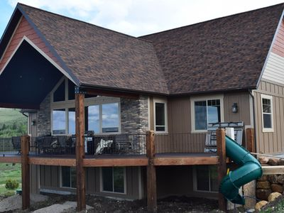 Photo for NEW LISTING! New home overlooking Bear Lake with private hot tub & theater room