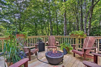 Step outside to enjoy Mother Nature around the fire pit!