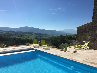Photo for Beautifully Restored Stone Barn w/Own Pool/Great Views To Vineyards/Mont Ventoux