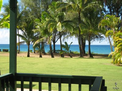 From your lanai, across the grass, to the sand.