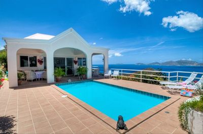 Main House and pool deck, with views of Jost Van Dyke