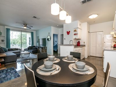 Photo for Family style-Resort Condo, 8 ml to Disney, gated community, next to the pool 🎢🎡☀️