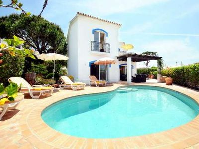 Photo for Stunning Dunas Douradas townhouse with private pool. Walk to beach V756
