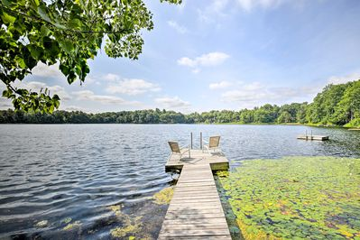 Watch the heron and hawks from your private dock on twin lake.