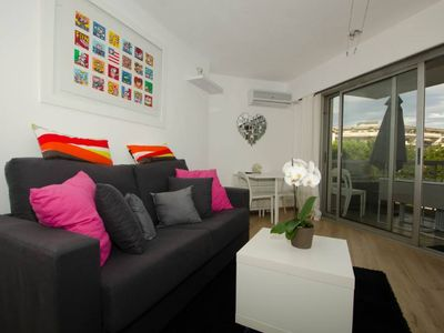Photo for apartment in residence Cros de Cagnes 1min walk to the beach
