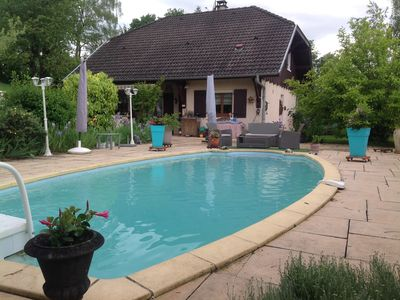 Photo for House with pool 8 km from Lake Annecy