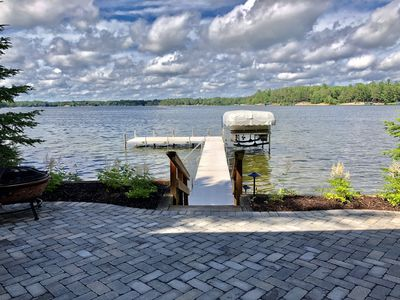 Photo for Cabin on Rush Lake - INCLUDES PONTOON!! Completely Remodeled & Sleeps 8.