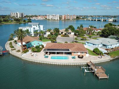 Photo for New Listing! Chic Waterfront Retreat w/ Private Pool, Dock, & Outdoor Kitchen