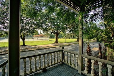 Front porch with view of the park