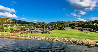 Photo for Rockhill Holiday Park. 4 bedroom bay view luxury cabin. Sleeps 8