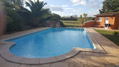 Photo for Single storey house with pool for 8 people in Marseillan