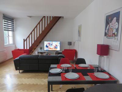 Photo for Parking, at the water's edge, opposite the historic center, bright and quiet 74 m²