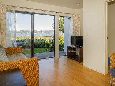 Photo for Villa 13 is beach front with views over Mercury Bay.