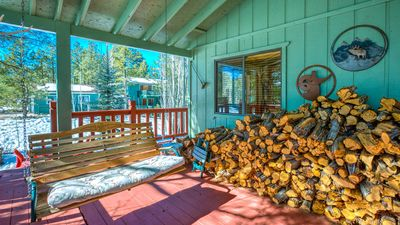 Unlimited firewood for wood burning fireplace inside and for fire pit outside.