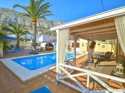 Photo for Stunning private villa for 6 people with A/C, WIFI, private pool, TV and parking