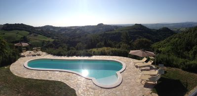 Photo for Farmhouse of the 800 nestled in a beautiful valley with panoramic pool