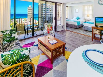 Waikiki Banyan 18th Floor | Panoramic Ocean Views | Free WiFi & Parking