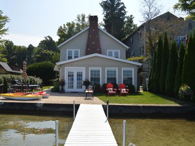 Photo for Lovely Home on the WATER'S EDGE of beautiful Diamond Lake!! Close to NOTRE DAME!