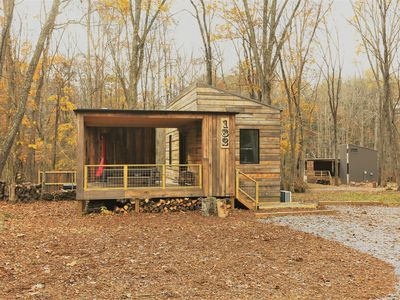 Photo for Brand new cabins, hot tubs, hiking trails, short Uber downtown