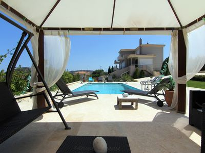 Photo for Unique Luxury villa Abelos near Airport and Athens centre, close to sandy Beach.