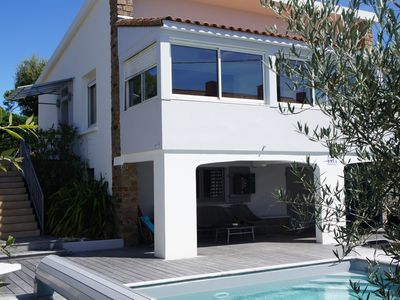 Photo for HOUSE with heated pool, beach and shops on foot