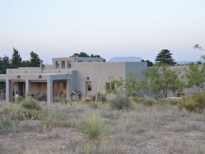 Photo for Big Sky Marfa: mountain views, modern amenities, on half acre NW edge of town
