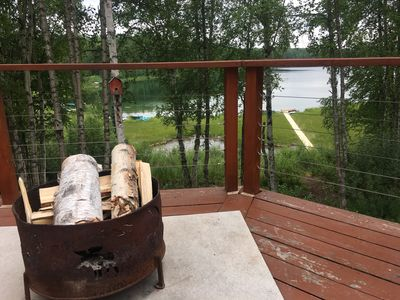 Photo for The Rusty Salmon Lake House with Deck and Dock