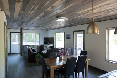Dining area and living room.  Upper deck and BBQ access