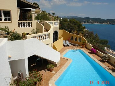 Photo for Cozy villa with fantastic sea views and private pool